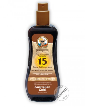 Australian Gold - SPF 15 Spray Gel mit Bronzer (237 ml)