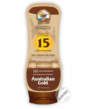 Australian Gold - SPF 15 Lotion mit Bronzer (237 ml)