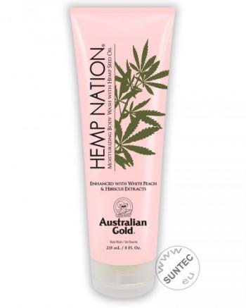 Australian Gold - Hemp Nation White Peach Hibiscus Body Wash (235 ml)