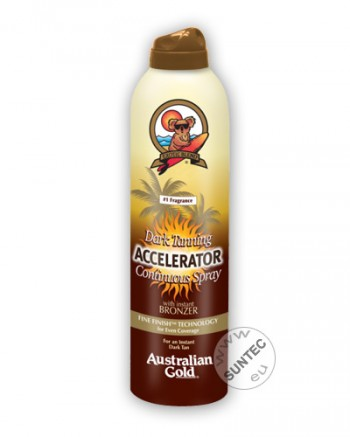 Australian Gold - Dark Tanning Accelerator Continuous Spray mit Bronzer (177 ml)